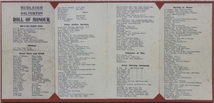 Budleigh Salterton Roll of Honour